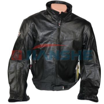 Мотокуртка кожаная черная NF-8142 ATROX
