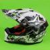 Шлем мотард кроссовый с очками LS2 MX436 Pioneer Chaos (чёрно-белый) 'S'