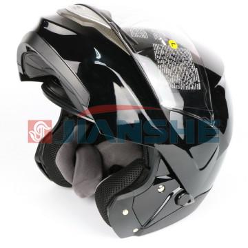 """Мотошлем """"ZEUS"""" ZS-3100 SOLID BLACK (черный глянец)"""