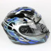 """Мотошлем """"ZEUS"""" ZS-806F, SOLID BLACK-BLUE (черно-синий)"""