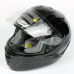 """Мотошлем """"ZEUS"""" ZS-806F, SOLID BLACK (черный глянец)"""