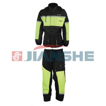Костюм (куртка, штаны) дождевик черно-красный NF-6102 ATROX