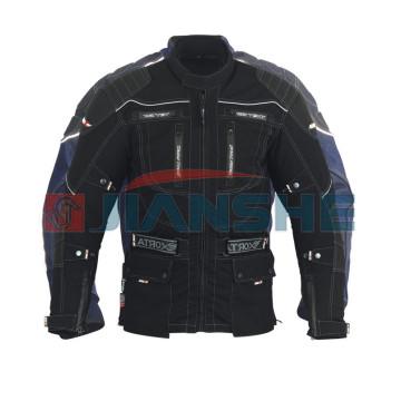 Мотокуртка длинная текстильная черная NF-7126 ATROX