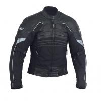 Мотокуртка короткая-текстильная-черная-NF-7110-ATROX