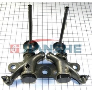Впускной и выпускной клапан + коромысло JBW125 (l - 93,5 мм, d - 24 мм)